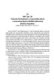 15. 1867. jun. 26. Somssich Pál bejelentése a képviselőház ülésén ...