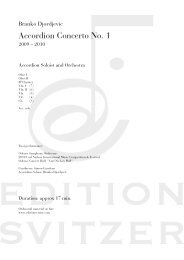 Accordion Concerto No. 1 - Edition Svitzer
