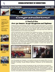 Education Services Newsletter Summer 2011 - Nevada Department ...