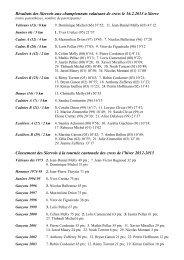 les Sierrois aux championnats valaisans de cross et à la tournée ...