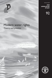 Modern water rights - theory and practice [legislative study - FAO.org