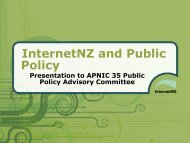 InternetNZ and Public Policy - APNIC Conferences