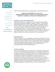 project goals and objectives background scope of work - City of ...
