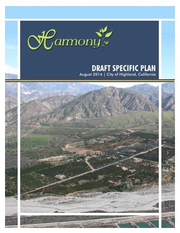 DRAFT SPECIFIC PLAN - City of Highland