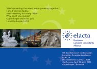 Save the Date - Europäisches Institut für Stillen und Laktation