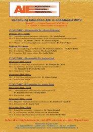 Continuing Education AIE in Endodonzia 2010 - CIC