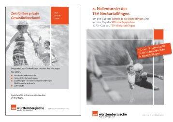 TSV Hallenturnier Programmheft 2010 - TSV Neckartailfingen
