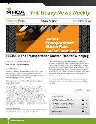 Transportation Master Plan - Manitoba Heavy Construction ...