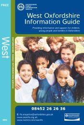 West Oxfordshire Information Guide - Oxfordshire County Council