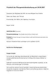 Protokoll der Pfarrgemeinderatssitzung am 28.08.2007