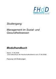 Studiengang: Management im Sozial- und Gesundheitswesen ...
