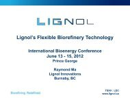 Lignol's Flexible Biorefinery Technology - International Bioenergy ...