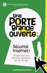 Sécurité et Internet 10 - 12 ans - The Door That's Not Locked