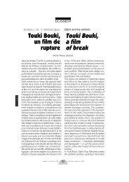 Touki Bouki, un film de rupture / Djibril and his Aesthetics - Africultures