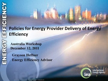 Policies for Energy Provider Delivery of Energy Efficiency