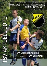 U 13 (D-Jun.) Straubing - des TSV Oberschneiding