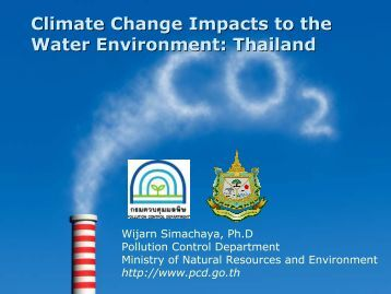 Climate Change Impacts to the Water Environment: Thailand - WEPA