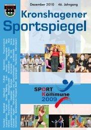 Dezember 2010 46. Jahrgang - TSV Kronshagen