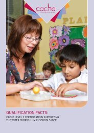Level 2 Certificate in Supporting the Wider Curriculum in ... - Cache