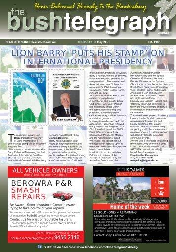 30th May 2013 - The Bush Telegraph Weekly