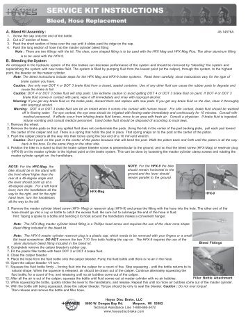 hayes brake bleed instructions