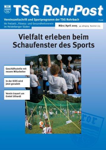 Vielfalt erleben beim Schaufenster des Sports Vereinszeitschrift