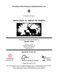 Native Plants As Habitat For Wildlife - Native Plant Society of ...