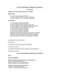 LEY DEL PROCEDIMIENTO ADMINISTRATIVO GENERAL LEY Nº ...