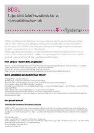 Részletes, letölthető termékleírás ( pdf, 238 kB ) - T-Systems