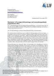 Läs hela remissvaret, pdf i nytt fönster - LIF