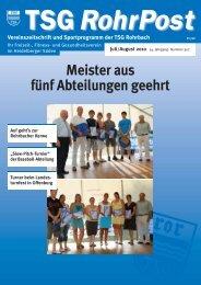 Titel_JuliAug010_nr307 - TSG Heidelberg-Rohrbach