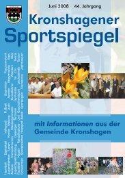 mit Informationen aus der Gemeinde Kronshagen - TSV Kronshagen