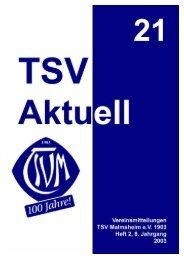 Schnogga – Treff - TSV Malmsheim