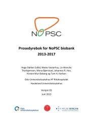 Prosedyrebok for NoPSC biobank 2013-2017 - Ous-research.no