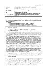 Admission Arrangements - East Sussex County Council