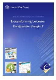 Leicester City Council - The MJ Awards