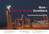 Wyre Borough Council - The MJ Awards