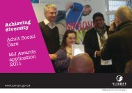 Surrey County Council, Adult Social Care - The MJ Awards