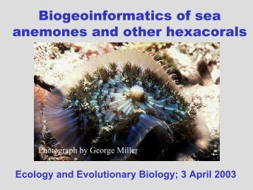 Fautin Ecology and Evolutionary Biology departmental seminar, 3 ...
