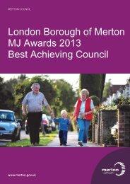 London Borough of Merton MJ Awards 2013 Best ... - The MJ Awards