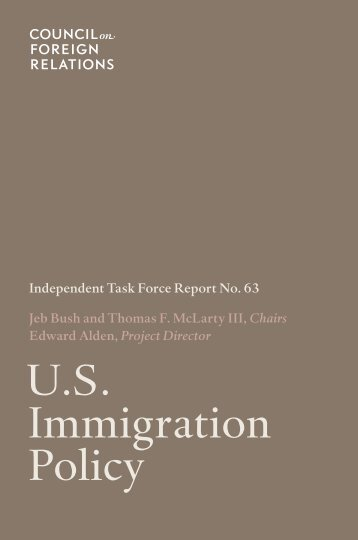 U.S. Immigration Policy - Council on Foreign Relations