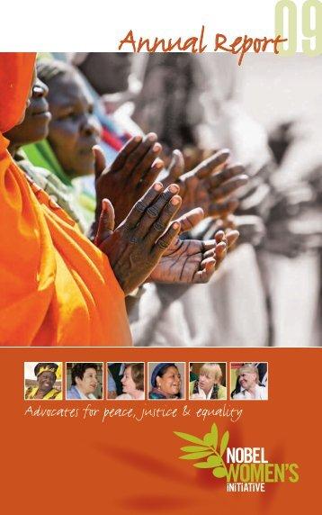 Nobel Women's Initiative Annual Report 2009