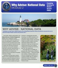 Why Advise: National Data - University of Southern Maine