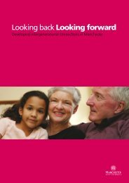 Looking back Looking forward - Manchester City Council