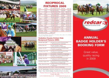 annual members form_12566 - Redcar Racecourse