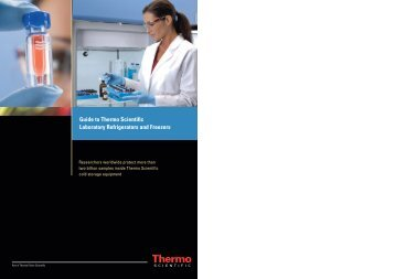 Guide to Thermo Scientific Laboratory Refrigerators and ... - Medical