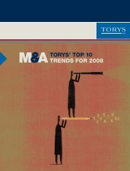 Top 10 M&A Trends for 2008 - Torys
