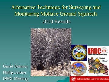 Alternative Technique for Surveying and Monitoring Mohave Ground ...