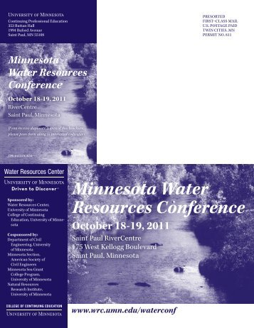 Minnesota Water Resources Conference - Water Resources Center ...