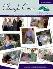 to view this month's Clough Crier - New London Hospital